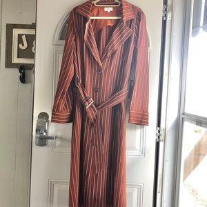 Privacy Please rust stripe women's fall dress sz L